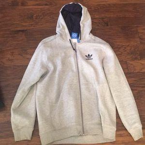 Adidas men's zip front sweatshirt